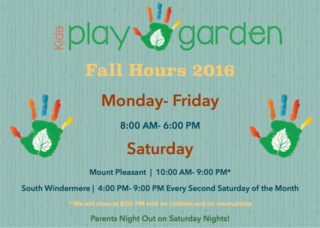 Reminder: New Fall 2016 Hours