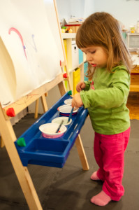 Painting lessons at Play Garden
