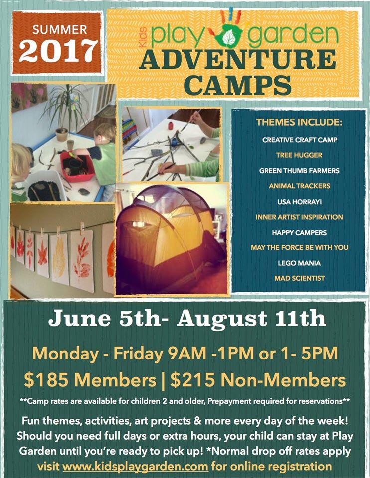 2017 Summer Camps at Kids Play Garden